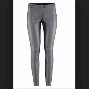 H&M Gray faux leather pants